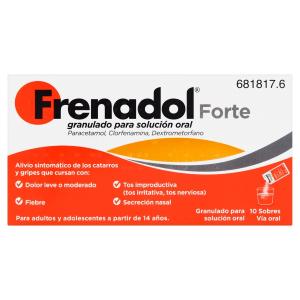 frenadol forte granulado para solucion oral 10 sob