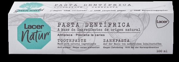 lacer natur dentifrico
