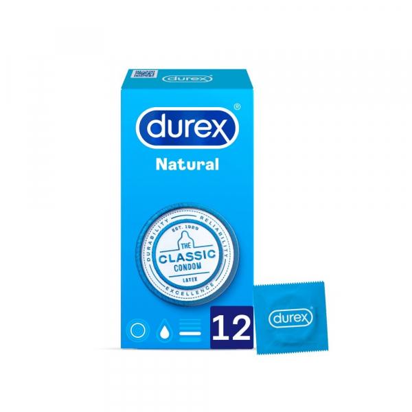 durex natural plus preservativos 12 uds