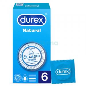 durex natural preservativos 6u