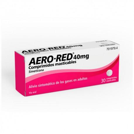 aero red 40mg 30comprimidos masticables