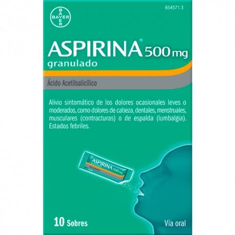 aspirina 500 mg 10 sobres granulado