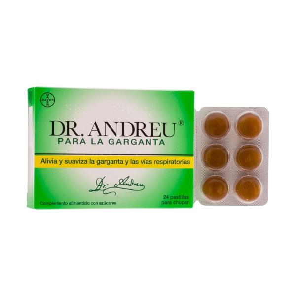 bayer dr andreu pastillas sabor miel 24uds
