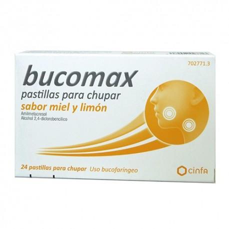 bucomax 24 pastillas para chupar sabor miel y limon