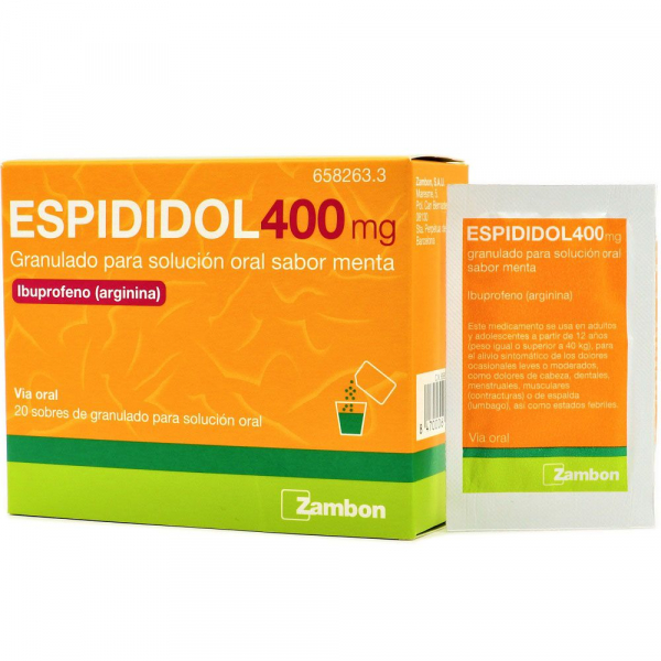 espididol 400 mg 20 sobres granulado solucion oral