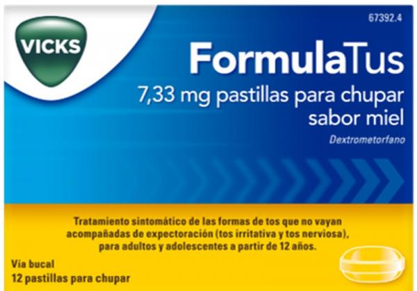 formulatus 12 pastillas para chupar miel