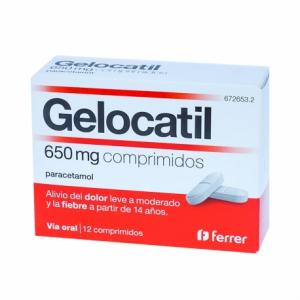 gelocatil 650 mg 12 comprimidos tiras