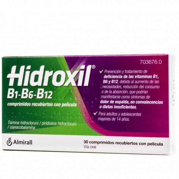 hidroxil b1 b6 b12 comprimidos