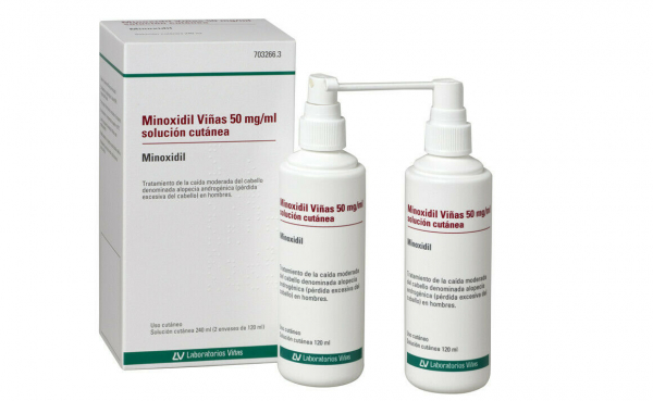 minoxidil 2 envases 120 ml