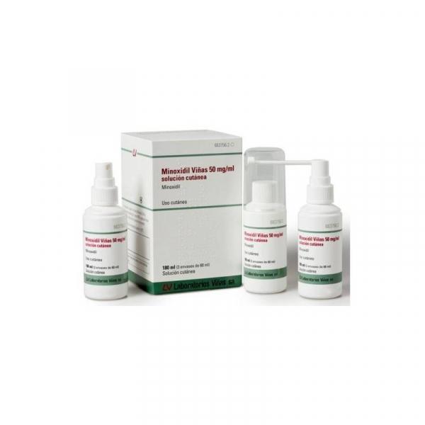 minoxidil viñas 50 mgml solucion 3 x 60 ml