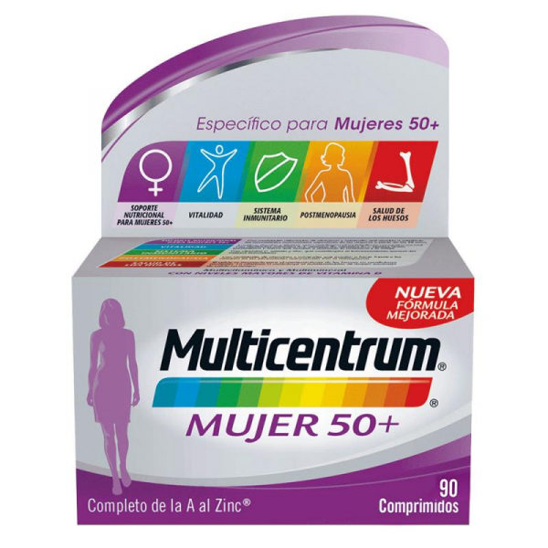 multicentrum mujer 50 90 comprimidos