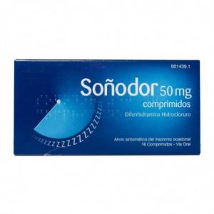 sonodor 50 mg 16 comprimidos