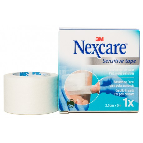nexcare sensitive tape color blanco 2,5cm x 5 m