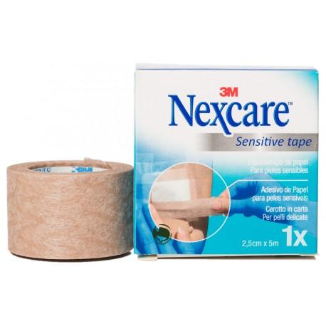 nexcare sensitive tape color piel 2,5cm x 5m